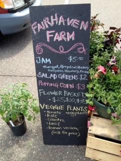 Jam, Salad Greens, Flower Baskets, and Vegetable Plants