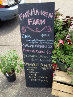 Jam, Salad Greens, Flower Baskets, and Vegetable Plants