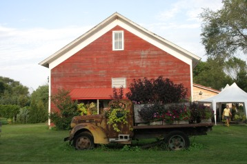 Barn and truck